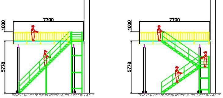 钢平台楼梯设计图